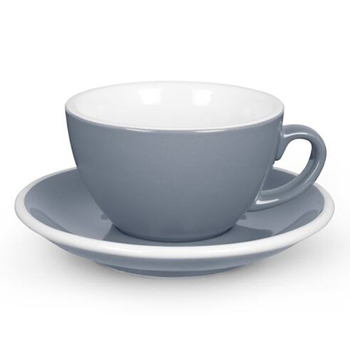 20% Acme Latte cup & saucer (gray)