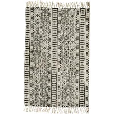 Denmark Gray Cotton Rug (pattern)