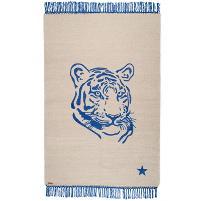 Pop Tiger Rug Gray/Blue