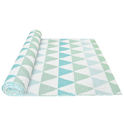 30% SALE! Triangle Rug turquoise