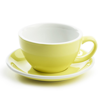 Acme Latte cup & saucer (Yellow)
