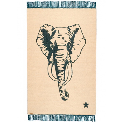 POP Elephant Rug Beige/Blue